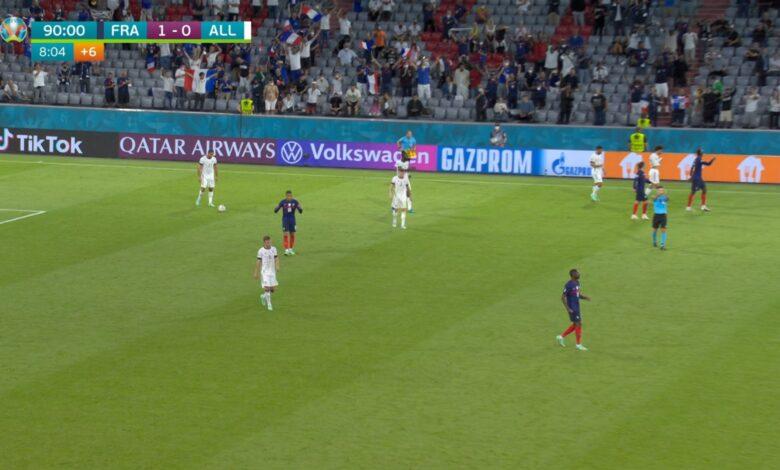 اهداف مباراة فرنسا وألمانيا 1-0 يورو 2020