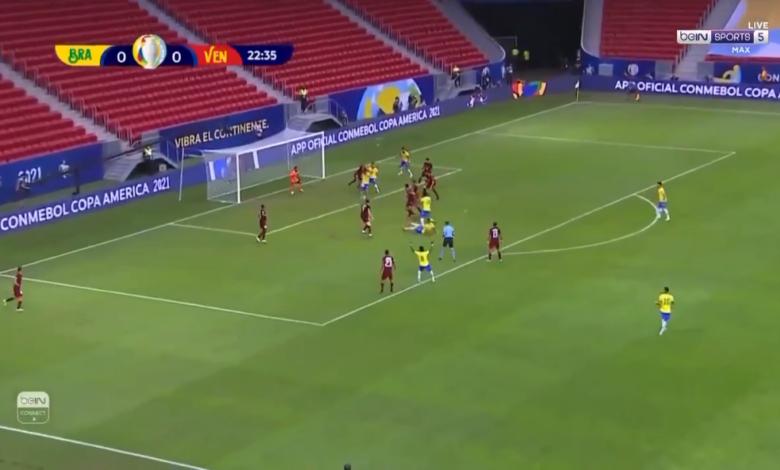 هدف البرازيل الاول في مرمى فنزويلا 1-0 كوبا أمريكا
