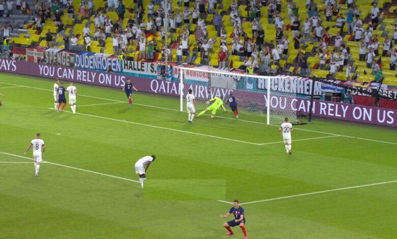 هدف فرنسا الاول في مرمى ألمانيا 1-0 يورو 2020
