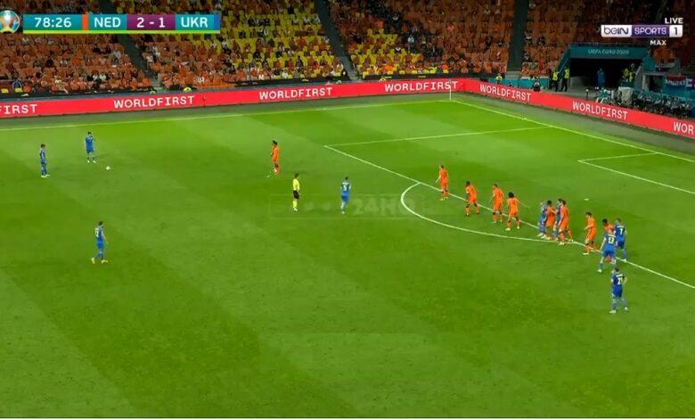 هدف اوكرانيا الثاني في مرمى هولندا 2-2 يورو 2020