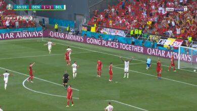 اهداف مباراة بلجيكا والدنمارك 2-1 يورو 2020