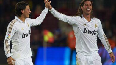 أوزيل: لقد رحل أكبر أسطورة في تاريخ ريال مدريد