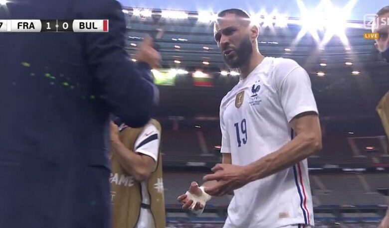 إصابة كريم بنزيما وخروجه في مباراة فرنسا وبلغاريا