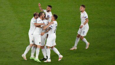 هدف ايطاليا الاول في مرمى تركيا 1-0 يورو 2020