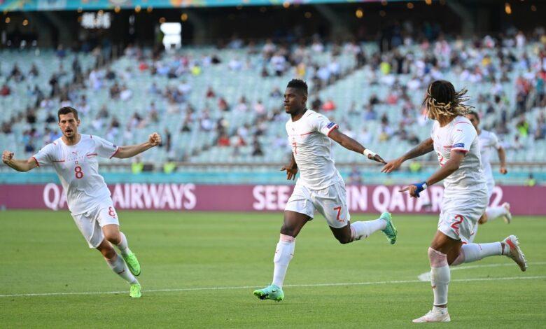 هدف سويسرا الاول في مرمى ويلز 1-0 يورو 2020