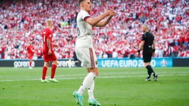 هدف بلجيكا الاول في مرمى الدنمارك 1-1 يورو 2020