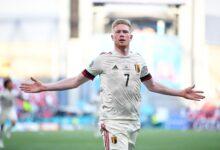 هدف دي بروين في مرمى الدنمارك 2-1 يورو 2020