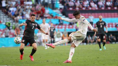 هدف اسبانيا الرابع في مرمى كرواتيا 4-3 يورو 2020