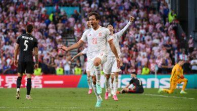 هدف اسبانيا الخامس في مرمى كرواتيا 5-3 يورو 2020