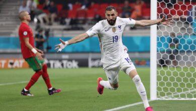 هدف كريم بنزيما الثاني في مرمى البرتغال 2-1 يورو 2020