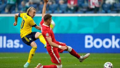 هدف السويد الاول في مرمى بولندا 1-0 يورو 2020