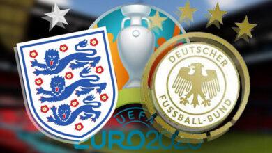 موعد مباراة إنجلترا وألمانيا اليوم في يورو 2020 والقنوات الناقلة