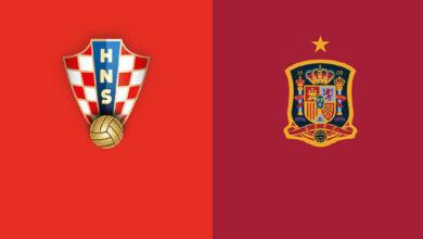 موعد مباراة كرواتيا وإسبانيا اليوم في يورو 2020 والقنوات الناقلة