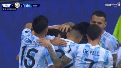 اهداف مباراة الأرجنتين والاوروجواي 1-0 كوبا أمريكا