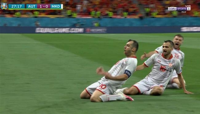 اهداف مباراة النمسا ومقدونيا الشمالية 3-1 يورو 2020