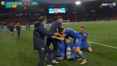 اهداف مباراة اوكرانيا والسويد 2-1 يورو 2020