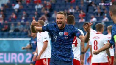 اهداف مباراة سلوفاكيا وبولندا 2-0 يورو 2020