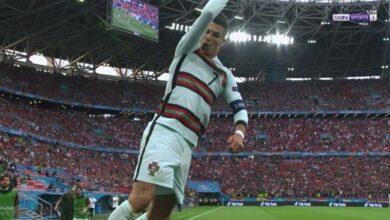 هدف كريستيانو رونالدو الثاني في مرمى المجر 3-0 يورو 2020