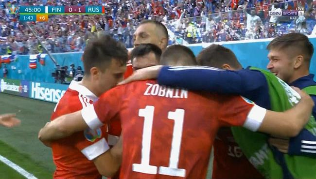 اهداف مباراة روسيا وفنلندا 1-0 يورو 2020