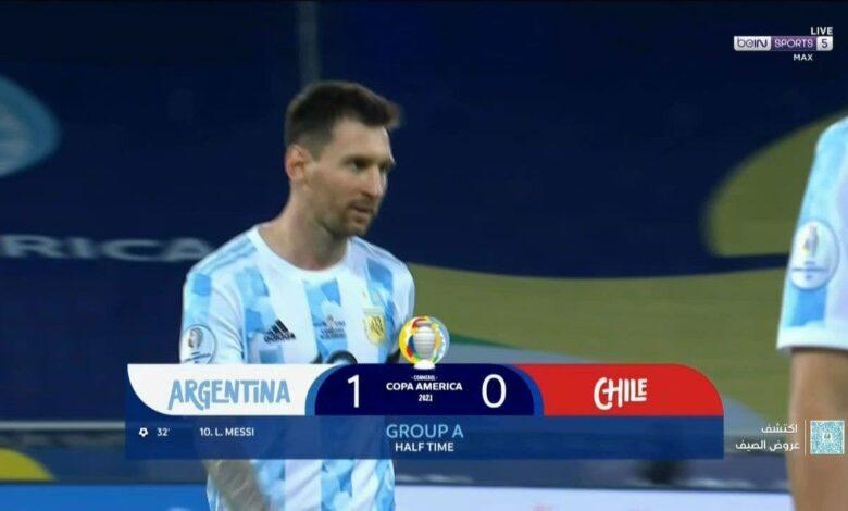 اهداف الأرجنتين وتشيلي 1-1 كوبا أمريكا