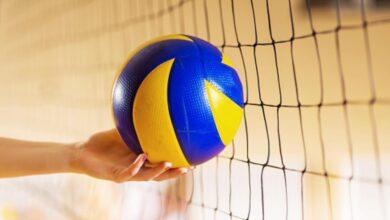 طول شبكة كرة الطائرة للسيدات وللرجال