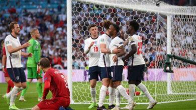 نتيجة مباراة انجلترا والدنمارك اليوم في يورو 2020