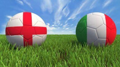 شاهد نتيجة مباراة إنجلترا وإيطاليا اليوم في نهائي يورو 2020