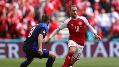 إريكسن يوجه رسالة لـ لاعبي الدنمارك عقب التأهل إلى نصف نهائي اليورو
