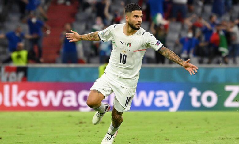 هدف ايطاليا الثاني في مرمى بلجيكا 2-0 يورو 2020