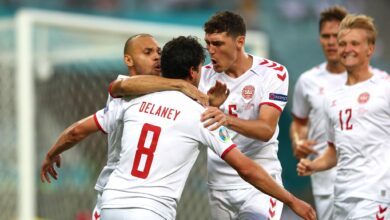 هدف الدنمارك الاول في مرمى التشيك 1-0 يورو 2020