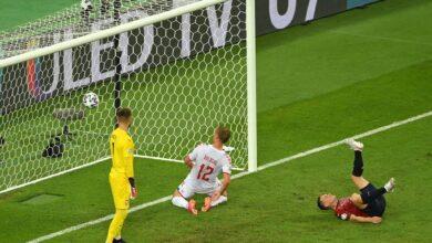 هدف الدنمارك الثاني في مرمى التشيك 2-0 يورو 2020