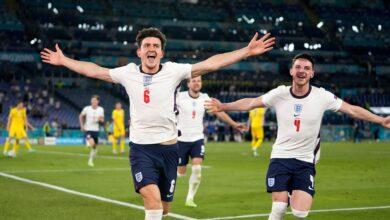 هدف انجلترا الثاني في مرمى اوكرانيا 2-0 يورو 2020