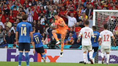 نتيجة مباراة إسبانيا وإيطاليا اليوم في يورو 2020