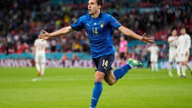 هدف ايطاليا الاول في مرمى اسبانيا 1-0 يورو 2020