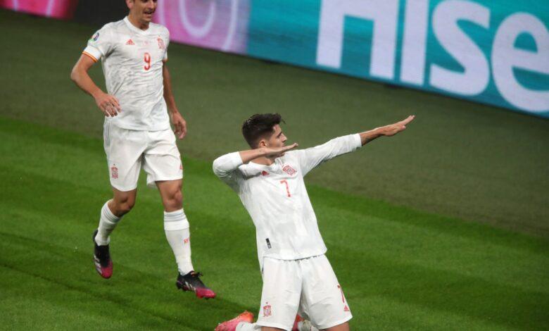 هدف موراتا في مرمى ايطاليا 1-1 يورو 2020
