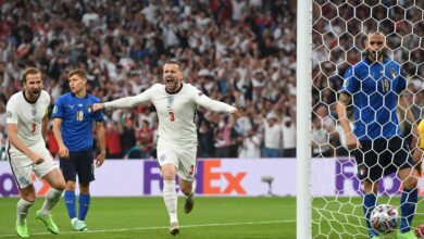 هدف انجلترا الاول في مرمى ايطاليا 1-0 يورو 2020
