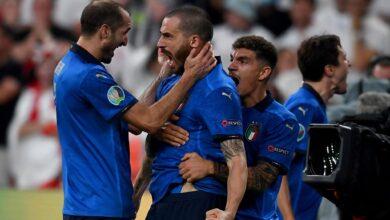هدف ايطاليا الاول في مرمى انجلترا 1-1 يورو 2020
