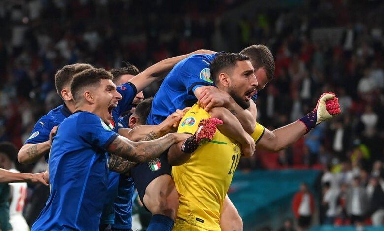 ركلات ترجيح مباراة انجلترا وايطاليا في يورو 2020
