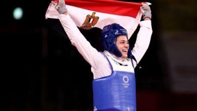 هداية ملاك تحرز أولى ميداليات مصر في اولمبياد طوكيو