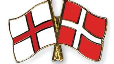 Denmark and England