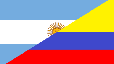 Colombia and Argentina