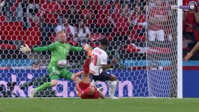 اهداف مباراة انجلترا والدنمارك 2-1 يورو 2020
