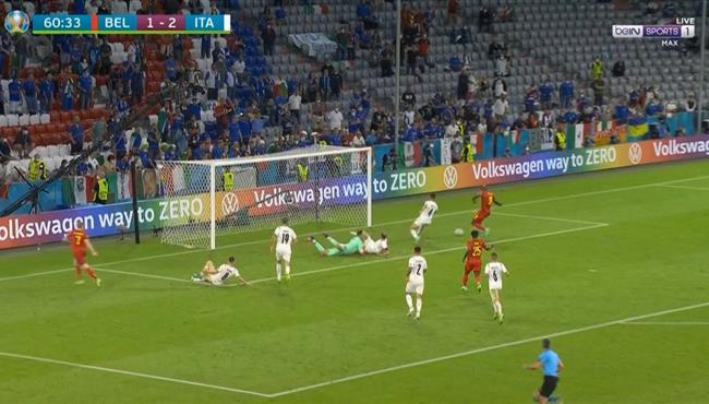اهداف مباراة ايطاليا وبلجيكا 2-1 يورو 2020