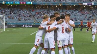 اهداف مباراة الدنمارك والتشيك 2-1 يورو 2020