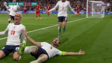 ملخص مباراة انجلترا والدنمارك في يورو 2020
