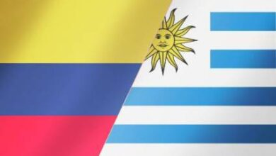 Uruguay and Colombia