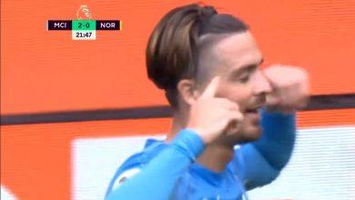 هدف مانشستر سيتي الثاني ضد نوريتش سيتي 2-0 الدوري الانجليزي