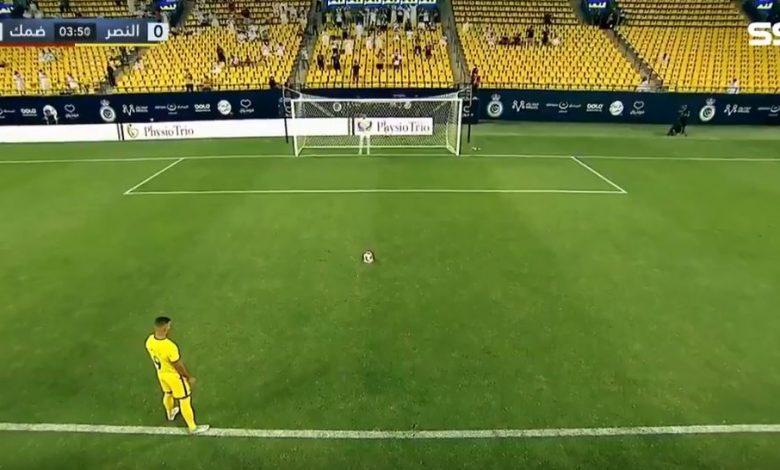 هدف عبدالرزاق حمدالله في مرمى ضمك 1-0 الدوري السعودي