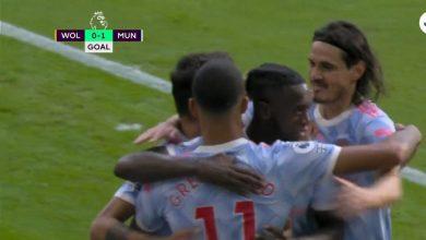 هدف مانشستر يونايتد الاول ضد وولفرهامبتون 1-0 الدوري الانجليزي