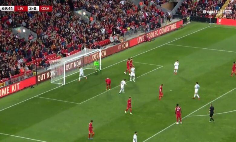 هدف اوساسونا الاول في مرمى ليفربول 1-3 مباراة ودية
